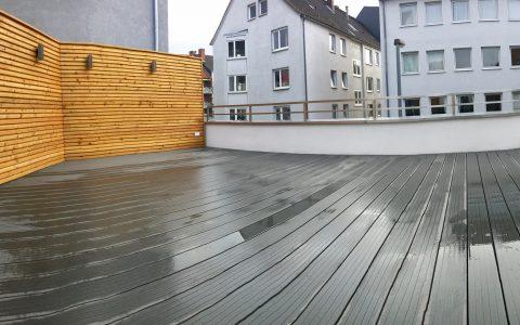 Terasse Umbau Dach Terassendielen Massiv Trennwand Zaun Tischler Hannover
