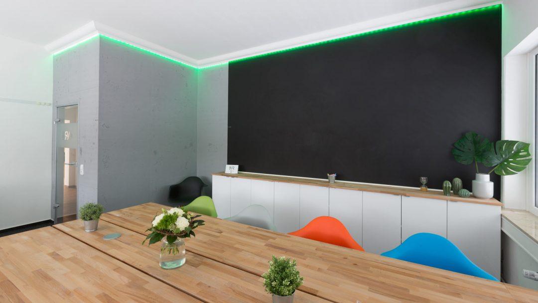 Raumgestaltung Betonoptik Hannover Maler LED Lichttechnik Stuckdecor Tafellack Magnetwand