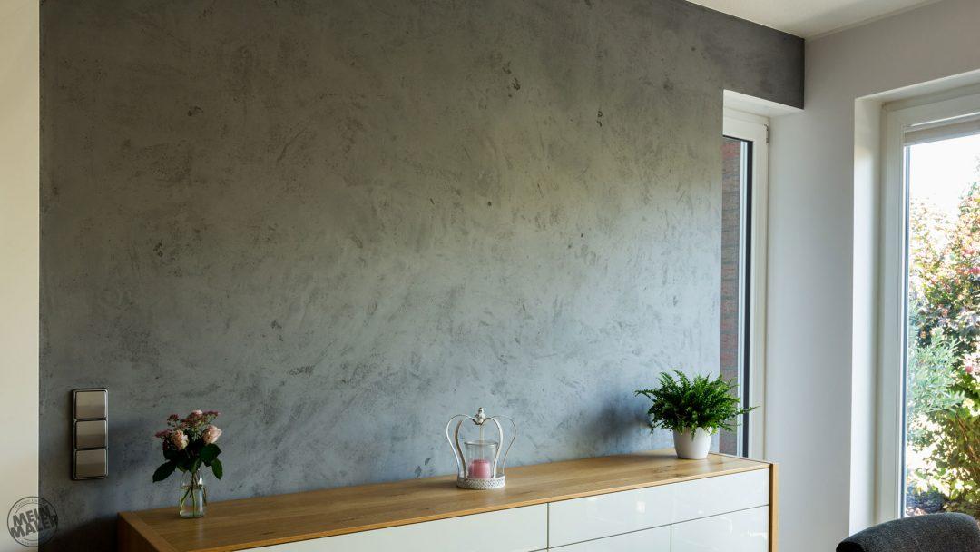 Spachteltechnik Hannover Maler Esszimmer Concrete Betondesign Cara Unico Stone Edel und Stein