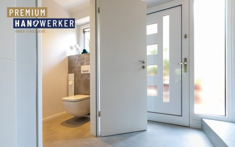 Frescolori Betonoptik Boden Flur Gäste WC MeinMaler Heyse