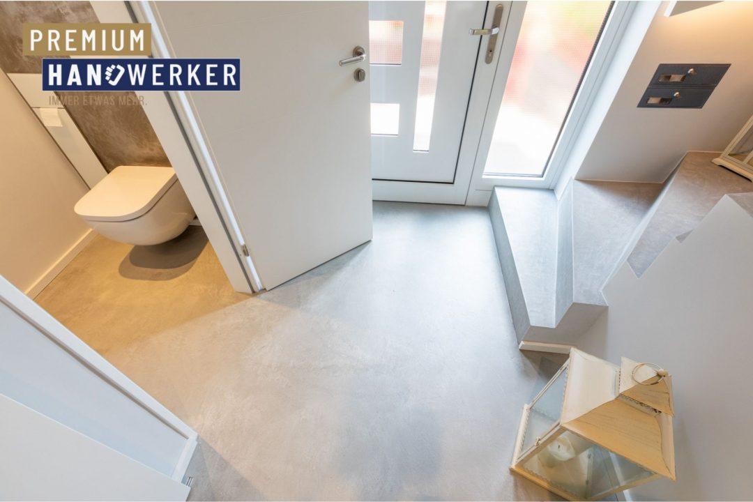 Frescolori Betonoptik Boden Flur Gäste WC MeinMaler Heyse 2