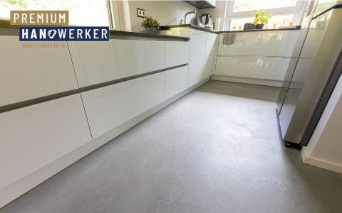 Frescolori Betonoptik Boden Küche MeinMaler Heyse