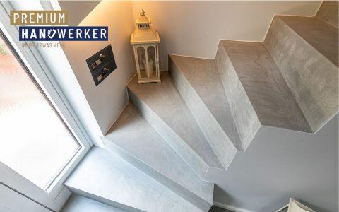 Frescolori Betonoptik Treppe MeinMaler Heyse